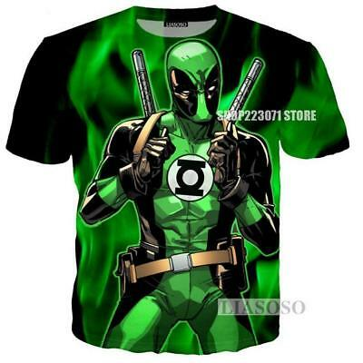 2018 Fashion Womens/Mens Deadpool Funny 3D Print Casual T-Shirt Y51