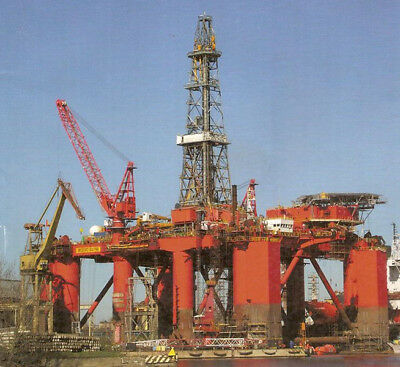 Norway Bredford Dolphin semi submersible oil drilling platform paper model kit