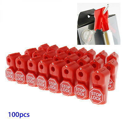 100Pcs 6mm Retail Security Stop Lock Detacher Key Display Hook Anti-Theft ABS
