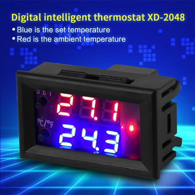 Microcomputer Digital Thermostat Switch Temp Heating/Cooling Controller DC12/24V