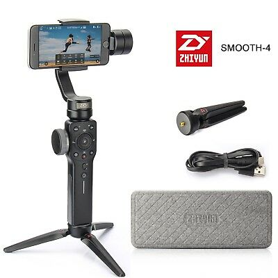 Zhiyun Smooth 4 Black Gimbal 3 assi stabilizzatori per Smartphone iPhone Samsung