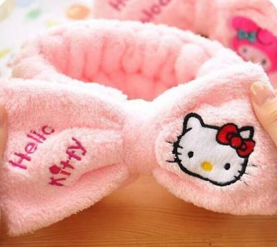 Hello Kitty SPA Shower Bath Beauty Salon Makeup Hair Band Elastic Soft Headband