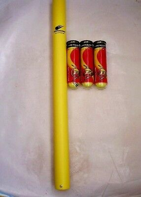 New! Tennis Ball Pick Up Tube (Holds18 Balls) & 12 Dunlop Club All Court Balls