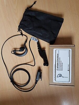 C-shape Surveillance Earpiece - Two Way Radio Audio Accessories - Door Security