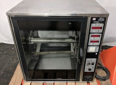 Henny Penny SCR-6 Commercial Restaurant Countertop Wheel Rotisserie Oven