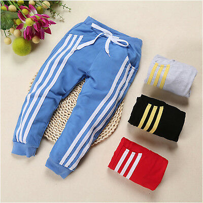 Toddler Kids Boys Girls Casual Trousers Sweatpants Baby Cotton Soft Long Pants A
