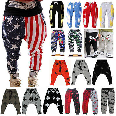 Toddler Baby Kids Boy Girl Harem Pants Sweatpants Casual Leggings Long Trousers