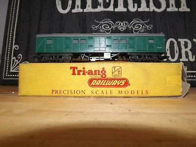 Triang TT T135 utility van green with box