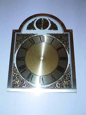 "VTG NOS ""TEMPUS FUGIT"" GRANDFATHER CLOCK DIAL w/ROMAN NUMERALS for CHAIN-DRIVEN"