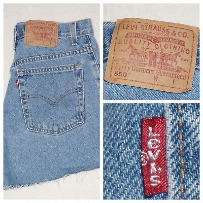 Vintage Levis 550 Relaxed Fit Blue Jean Shorts Womens 10 Mis Made In USA