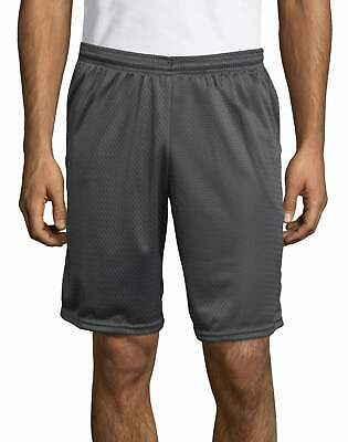 "Hanes Sport Men Mesh Shorts with Pockets Gym Workout 9"" inseam sz S-2XL 4 Colors"