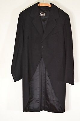 Vintage Early 20thC 1920s Black Tail Coat Tailcoat Morning Tails Montague Burton