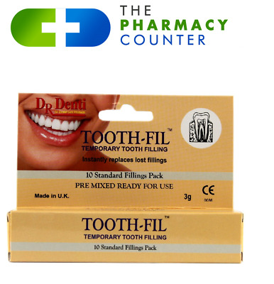 Dr Denti Temporary Repair Tooth Filling - enough for upto 10 uses - Dental