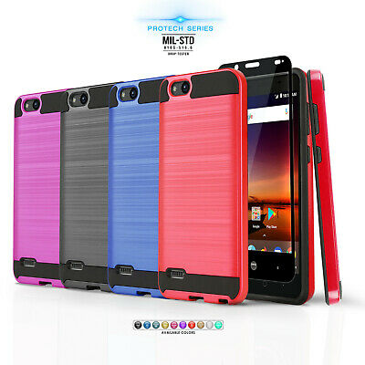 FOR ZTE ZFIVE C LTE / ZFIVE G LTE, [Protech Series] Phone Case Brushed Cover