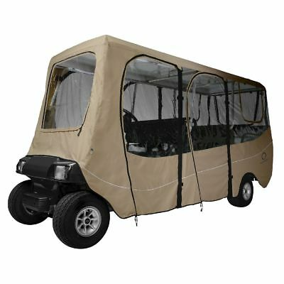 DLX GOLF CAR ENCLOSURE EXTRA LONG ROOF, Khaki - Classic# 40-051-345801-00