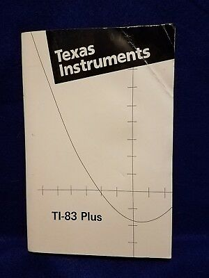 Pre-owned ~ Texas Instruments TI-83 Plus Graphing Calculator Guidebook (2003)