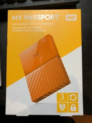 NEW 3TB My Passport Orange, by WD Content Solutions Business