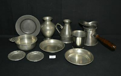 ThriftCHI ~ Mixed Lot of Pewter Made In England - Porringers, Pipkin Pot+