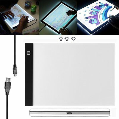A4 USB LED Artist Thin Art Stencil Board Light Tracing Drawing Pad Table Box