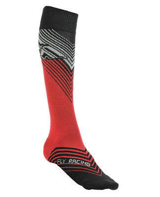 Fly Racing MX Thin Mens Offroad Socks Red/Black