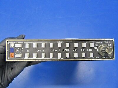 King KMA-24 Audio Panel & Marker Beacon Receiver P/N 066-1055-01 (0518-102A)