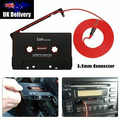 Car Audio Tape Cassette Adapter To Jack AUX CD Music For IPOD MP3 IPhone 3.5mm