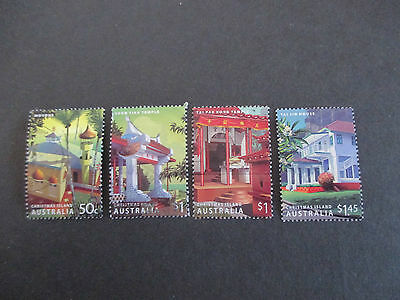 No-7-2006   heritage  buildings--CHRISTMAS    ISLAND  ISSUED  STAMPS  4--USED