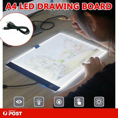A4 LED Art Tattoo Stencil Board Light Tracing Drawing Pad Table Box Dimmable