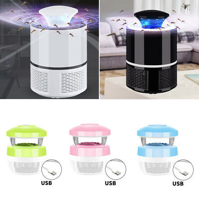 6 Lamp Electronic Mosquito Killer Indoor Mosquito Trap Inhaled Fly USB Charger