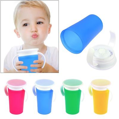 360 Magic Handle Baby Training Spill Proof Seal with Watertight Non Spill Cup
