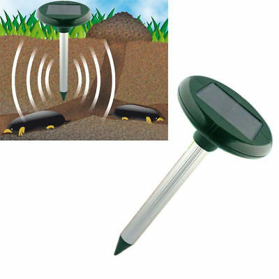 Solar Powered Ultrasonic Mole Gopher Rodent Chaser Repeller  M,K