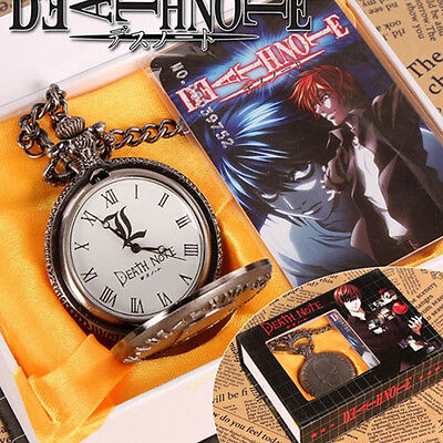 Anime Death Note Pocket Watch Quartz Toy Gift Cosplay Props Pendant Collectable