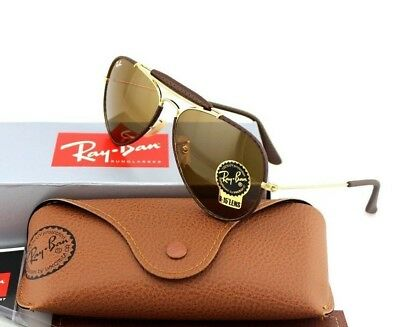 RARE New Authentic RAY-BAN Outdoorsman Craft Aviator Sunglasses RB 3422-Q 9041