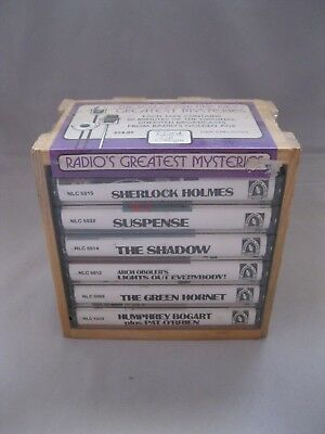Vtg Old Time Radio Greatest Mysteries Cassettes~6 Tapes~Sherlock Holmes/Others