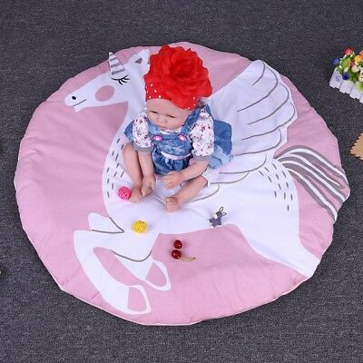 Unicone Round Baby Crawling Mat Blancket Kids Game Activity Rug Thick Play May