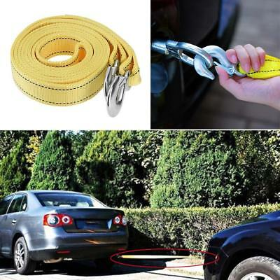 5 Tons 5m Nylon Car Van Tow Rope Hook Heavy Duty Road Recovery Pull Towing Strap