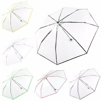 Transparent Umbrella Clear Dome Compact Folding Umbrella Wedding Party Favor