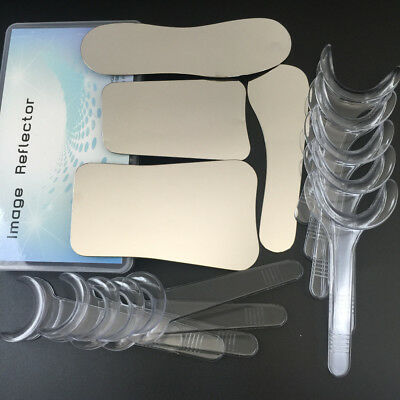 4pcs Intraoral Dental photography Mirror+ 10pcs Retractor Cheek Lip Mouth Opener