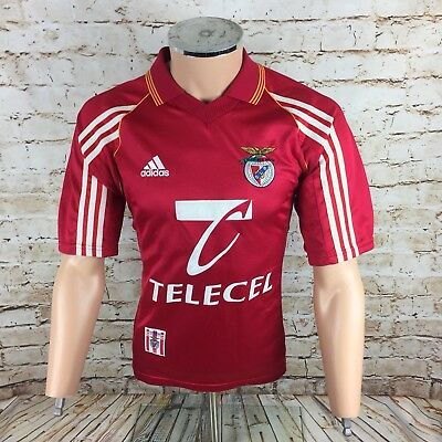 Benfica Football Shirt Adidas 1996 / 1997 Vintage Red Sz Small / S Mens