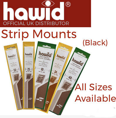 HAWID Stamp Mounts ⭐️ Full Range Hawid Stamp Mounts (Strips) - Select Any Size!