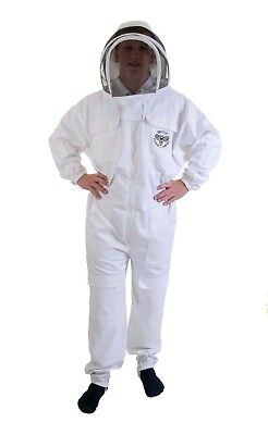 [UK] Buzz Work Wear Beekeeping White Fencing Veil Bee Suit- SELECT SIZE
