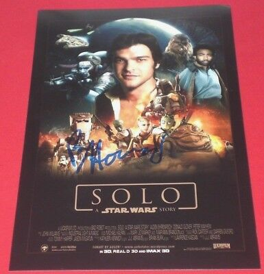 Ron Howard Signed Solo A Star Wars Story 8X12 Full Poster Photo B Autograph Coa