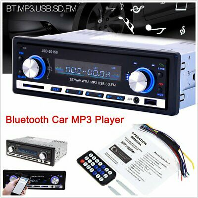 Bluetooth Car MP3 Player Stereo In-dash Aux Input Receiver SD USB Radio Play