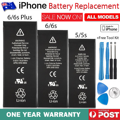 For iPhone 6 6S Plus 5s 5 New Genuine Original Internal Battery Replacement