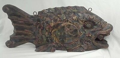 Rare Antique Buddhist Temple Fish Gong Authentic Mealtime Ho Gong Soto Monastery