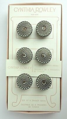 Cynthia Rowley Drawer Knobs Set Of 6  Antique Brass Design Old/new Stock