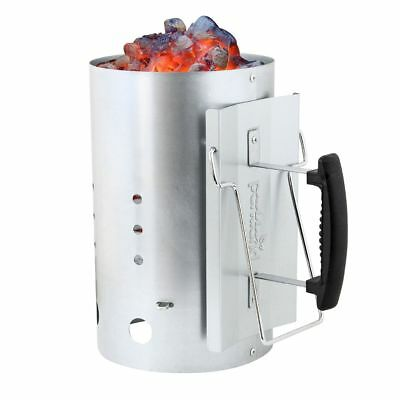 """Barbecue BBQ 19"""" Chimney Starter Charcoal Grill Steel Rapid Quick Fire Lighter"""