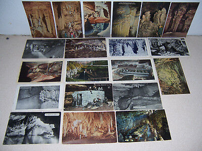 1920s-40s ANTIQUE CAVE CAVING CAVERN SPELUNKING POSTCARD LOT of 20 DIFF