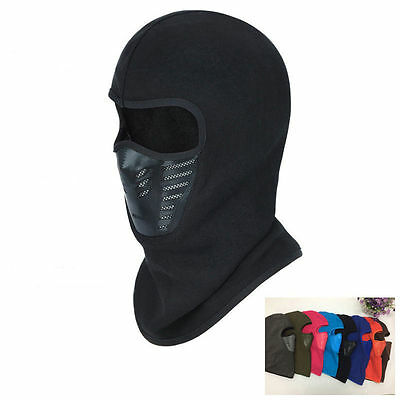 Motorcycle Biker Full Face Mask Balaclava Ski Outdoor Winter Thermal Windproof D
