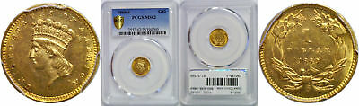 1860-S $1 Gold Coin PCGS MS-62